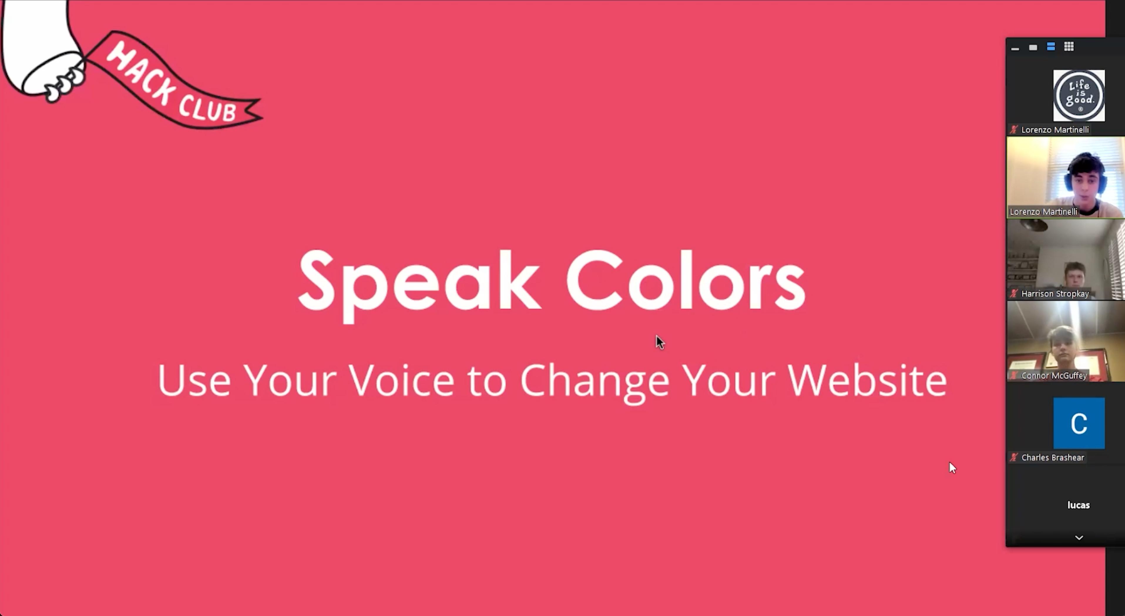 Speak Colors demo